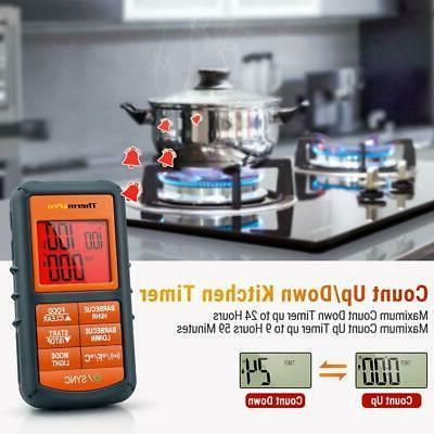 Wireless Meat Kitchen Alarm Thermometer &Timer