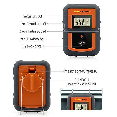 Dual 2 Wireless Meat Kitchen Thermometer