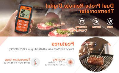 Dual Probes Wireless LCD Cooking