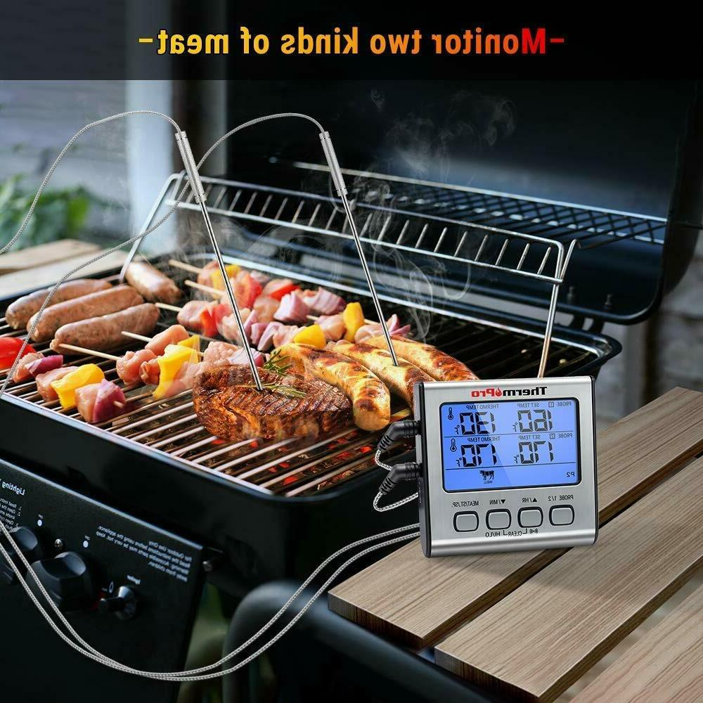 Prolong Dual Digital Meat Cooking Grill Food Smoker