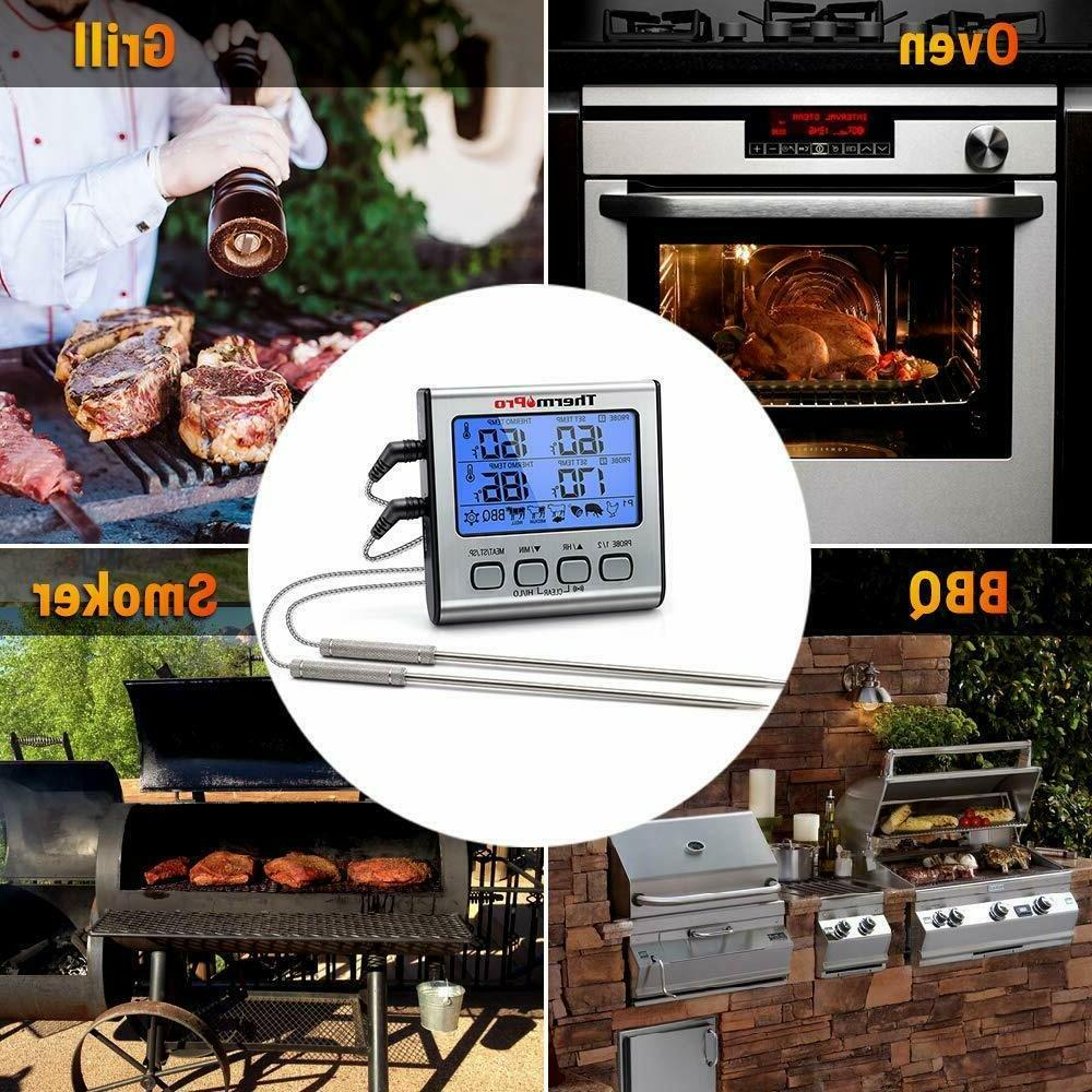 Prolong Dual 2 Probe Digital Cooking Thermometer Grill Smoker
