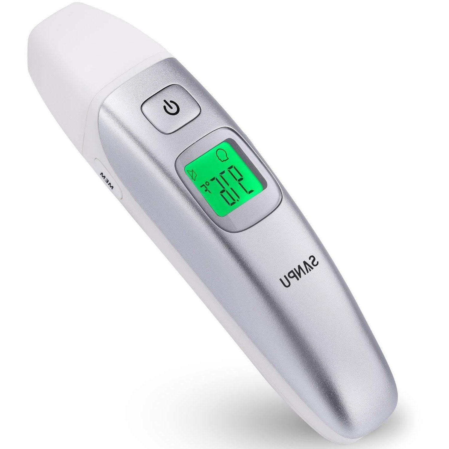 digital medical infrared forehead and ear thermometer