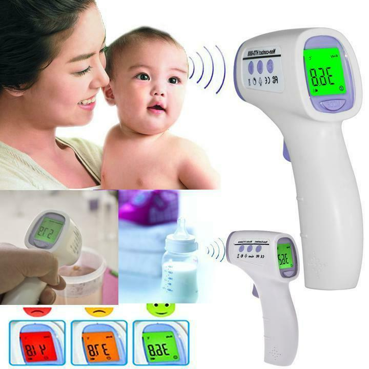digital non contact infrared forehead body thermometer