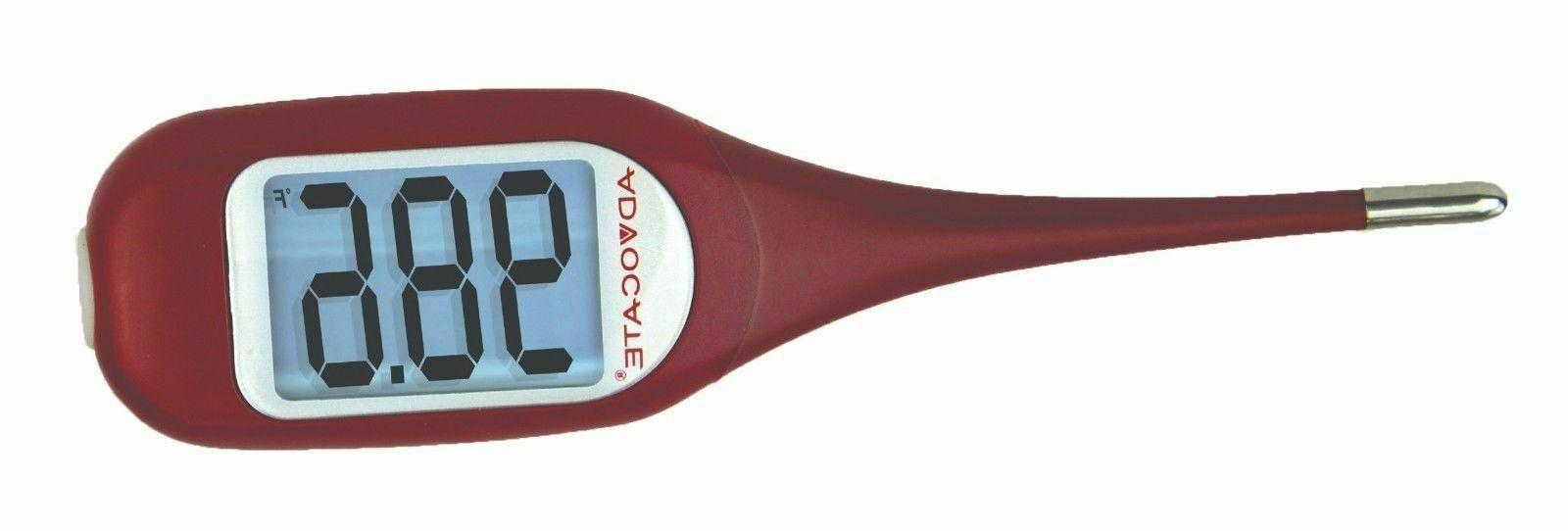 digital oral and rectal thermometer maroon color