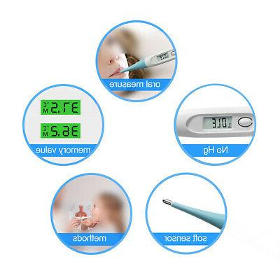 Oral LCD For Baby Adult Health Medical Thermometers