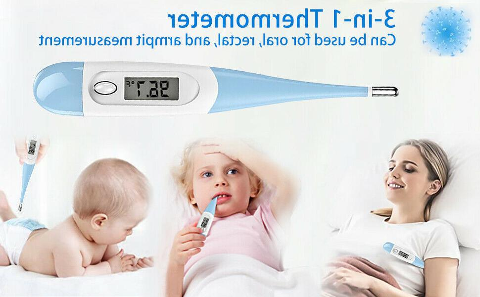 Digital Fever for Adults and Kids, Oral/Rectal/Underarm Body