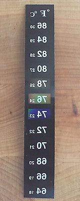 dual aquarium fish tank thermometer temperature sticker