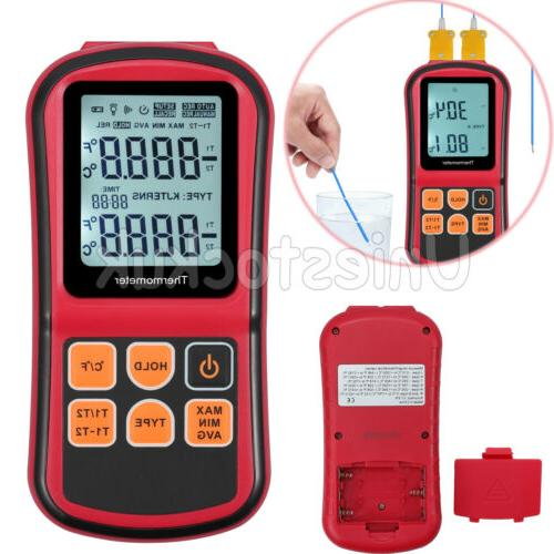 dual channel backlight digital thermometer ktype thermocoupl