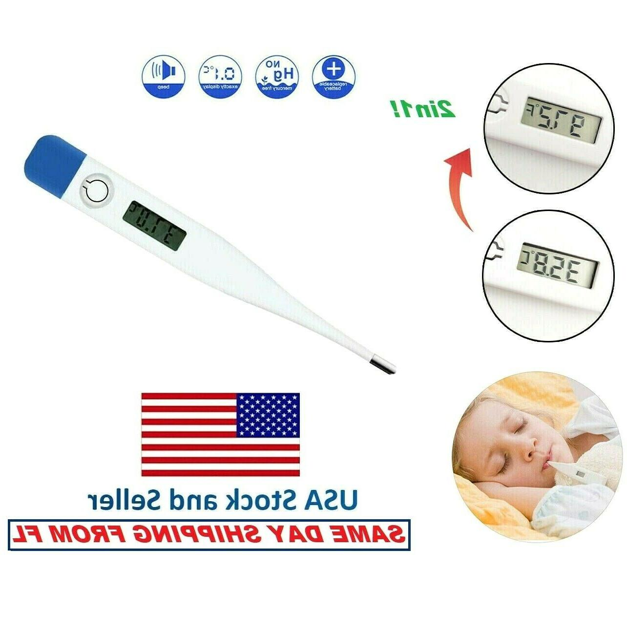 electronic digital thermometer body adult safe oral