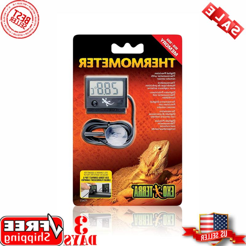 Exo Terra Digital Thermometer with Probe, Celsius And Fahren