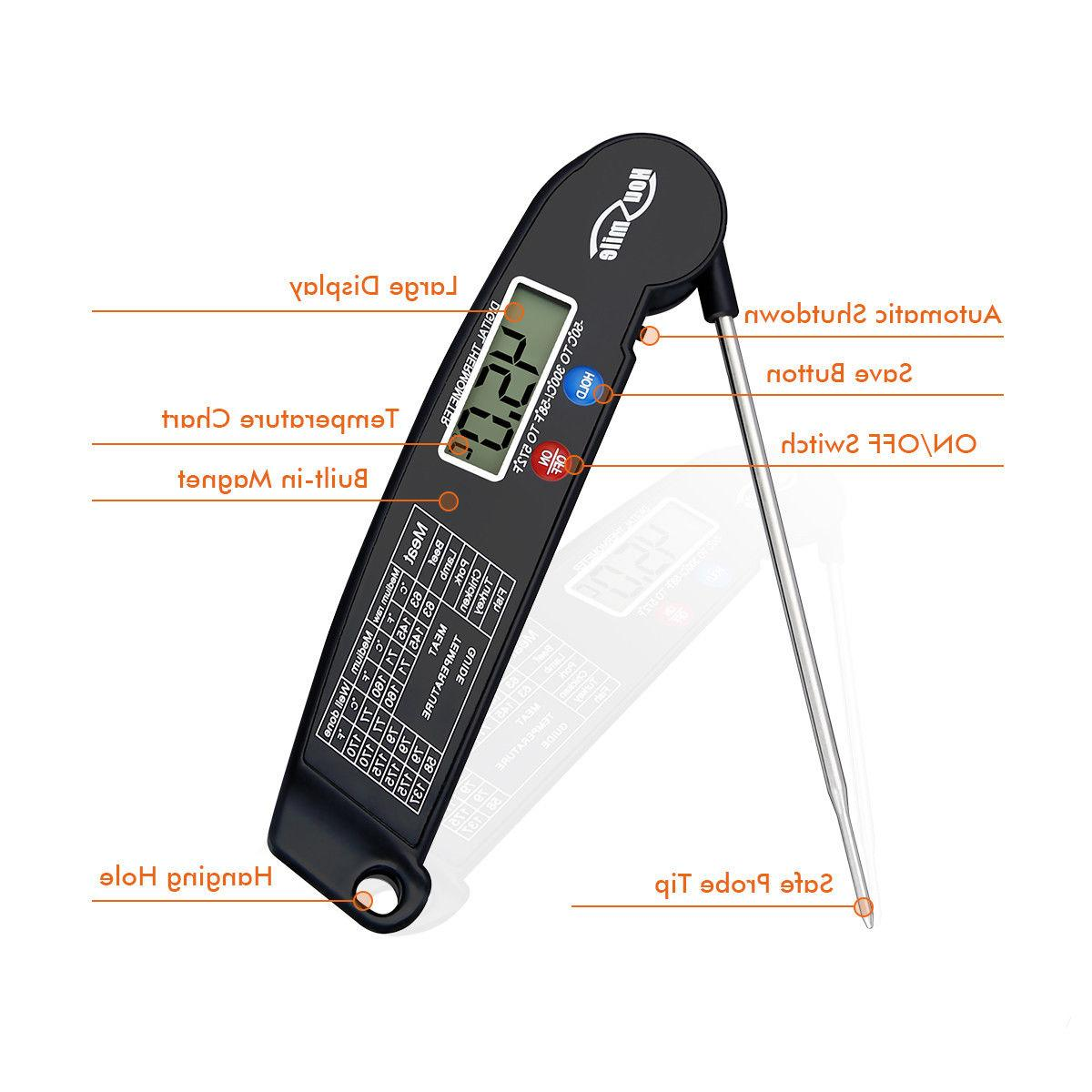 Digital Food Thermometer For BBQ Kitchen Water Probe