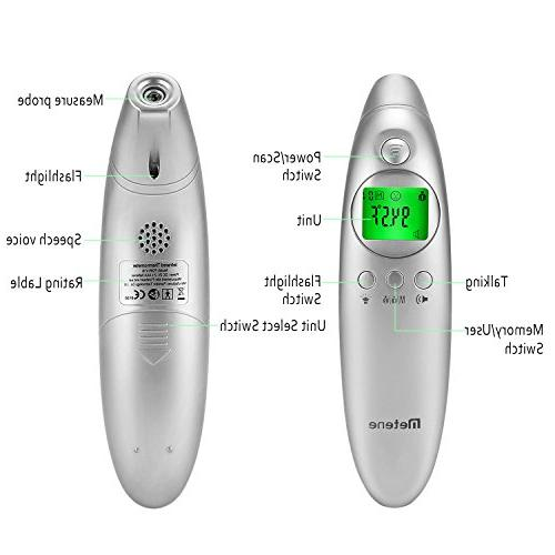 Metene Forehead and Digital Non-Contact Thermometer with Fever Easy Adult Family with FDA