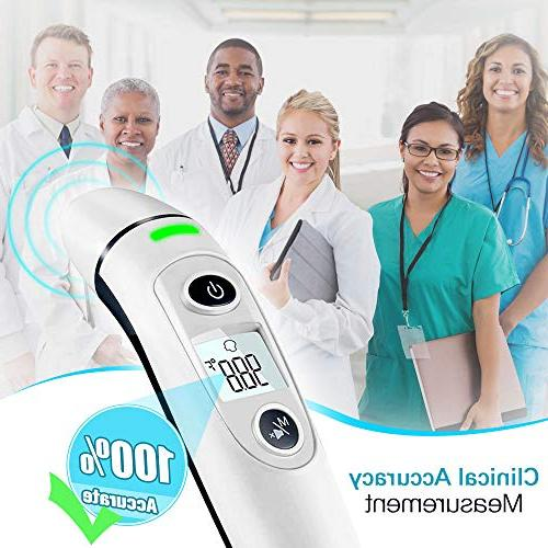 Forehead Ear 5-in-1 Digital Medical Infrared Fever Thermometer New Accuracy, for