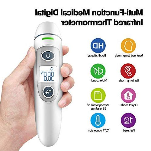 Forehead and Ear 5-in-1 Digital Thermometer, Infrared New Algorithm for Accuracy, Children