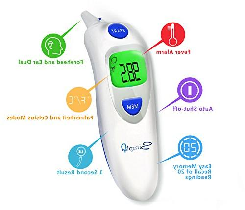 Ear Digital Medical Infrared Body Thermometer for Fever, Children, Infants, Toddlers, FDA and CE