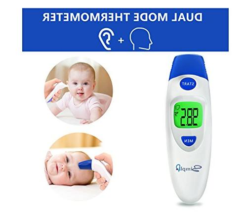 Baby with Ear Digital Infrared for Fever, for Children, Adults, Infants, FDA and CE