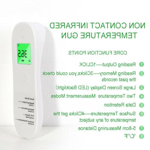Temporal Forehead Thermometer Body Temperature