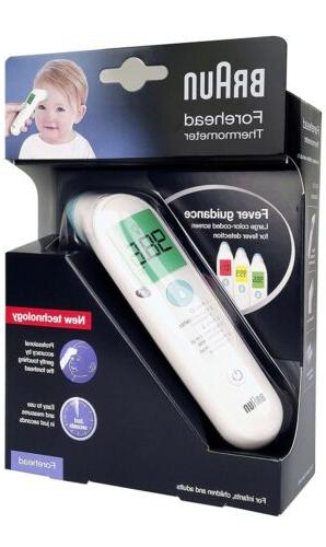 BRAUN-FOREHEAD-THERMOMETER-DIGITAL-INFRARED-NEW-ADULT-KID-TODDLER-CHILD-BFH-125