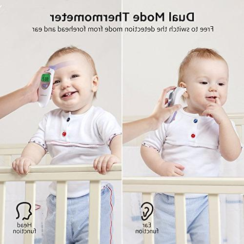 Baby Forehead Ear Function, in 1 Digital Thermometer Alert Silent Kid Adult CE and