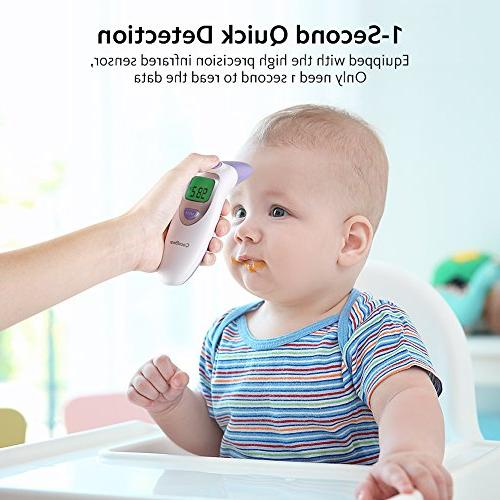 Baby Forehead Ear Function, 4 in Digital Thermometer Silent Kid Adult CE FDA