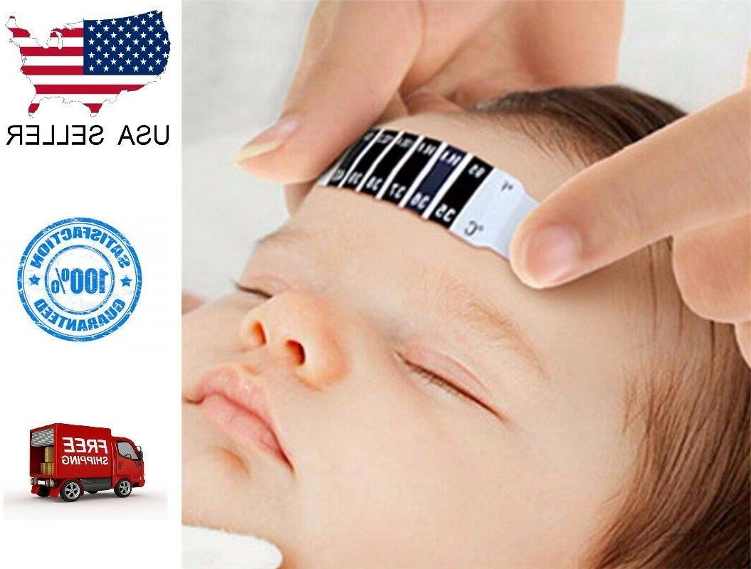 forehead thermometer strip fever baby kid adult