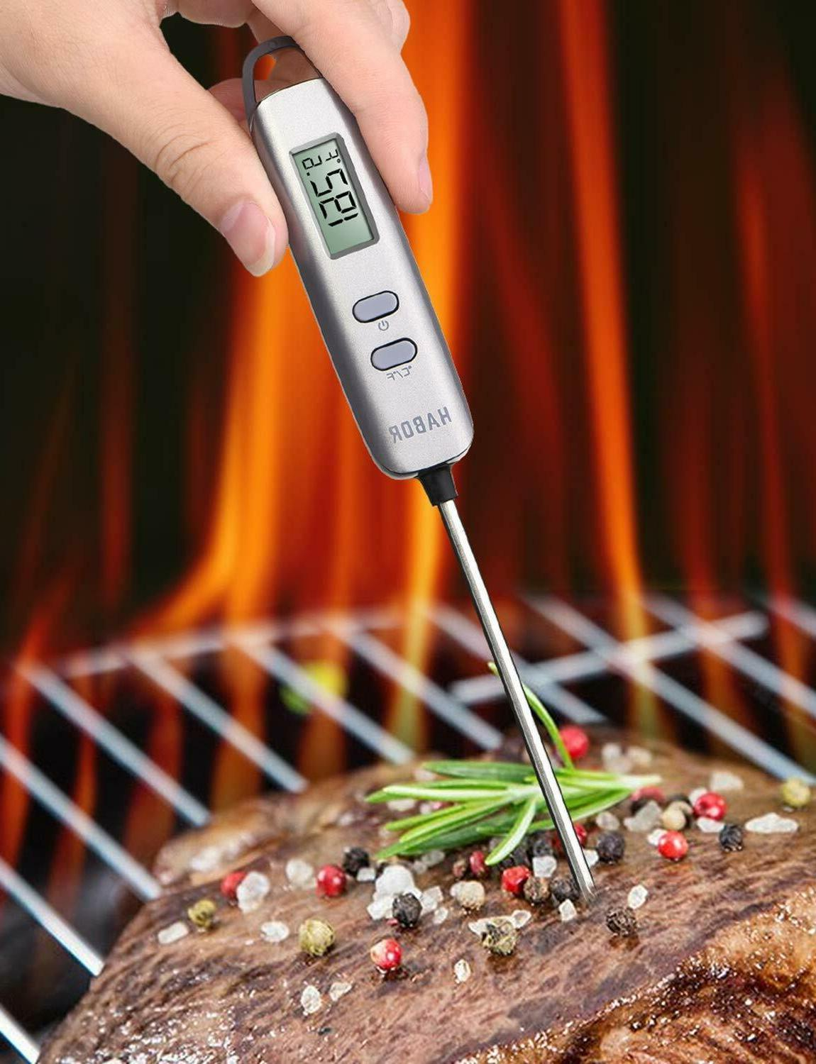 Habor Meat Digital Stainless Cooking Thermometer with 5 Sec