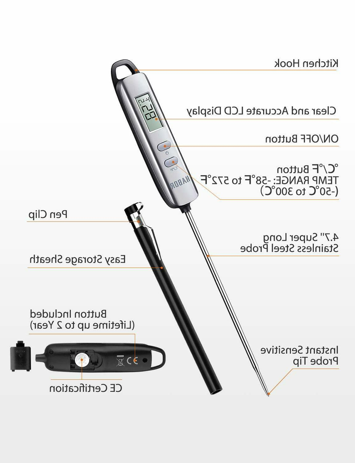 Habor Meat Thermometer, Read Digital Cooking