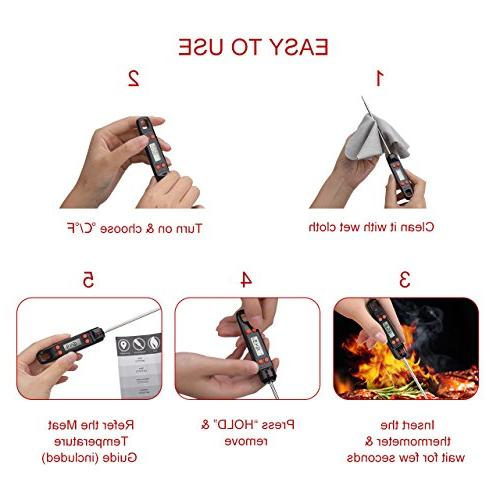 Habor Meat Thermometer Long Screen, Kitchen BBQ