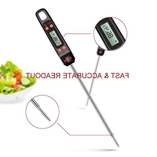 Habor Digital Thermometer Meat Long Probe, Large