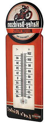 Harley-Davidson® Vintage Style Indoor Outdoor Thermometer