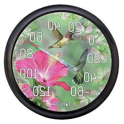 TAYLOR PRECISION PRODUCTS 13-Inch Hummingbirds Outdoor Therm