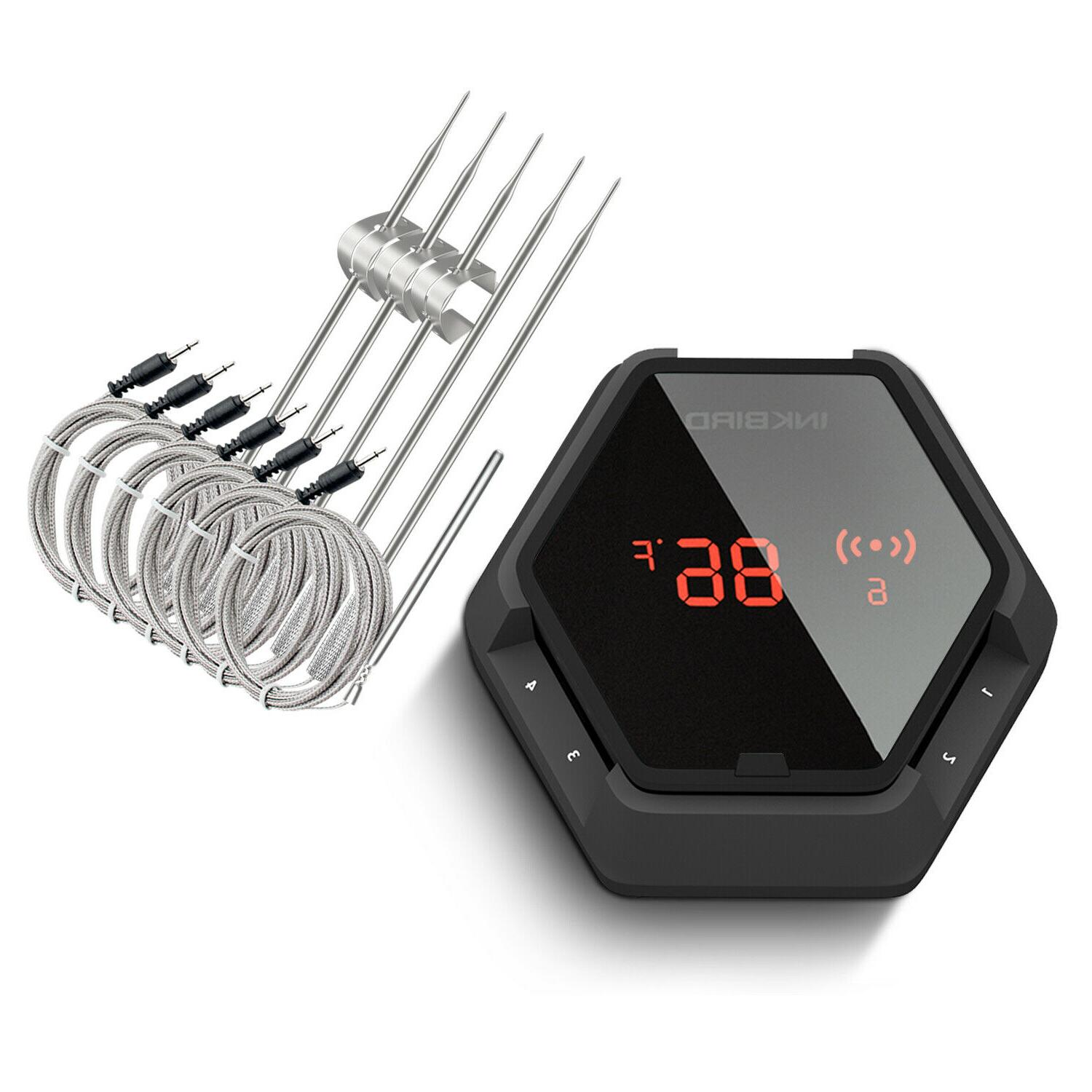 6 Probes INKBIRD Bluetooth Digital Cooking Thermometer IBT-6