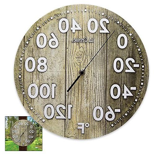 "105-2230 La Crosse 12"" Indoor/Outdoor Dial Polyresin Thermom"