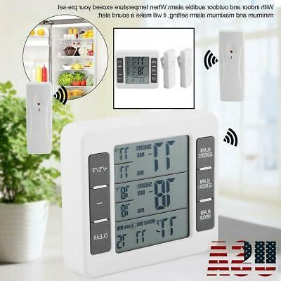 indoor outdoor digital wireless thermometer temperature 2