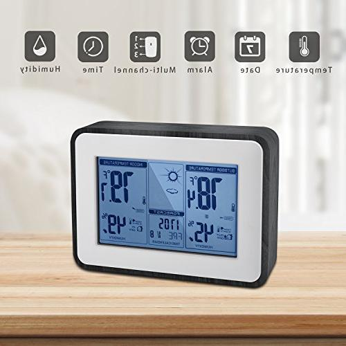 Indoor Outdoor Hygrometer Temperature Multifunctional Station with 2018