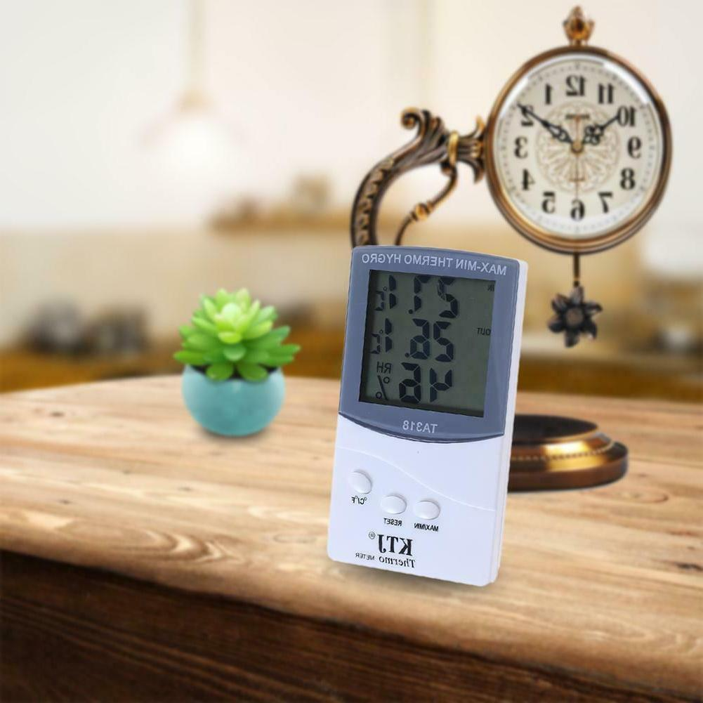 indoor outdoor thermometer digital lcd hygrometer humidity