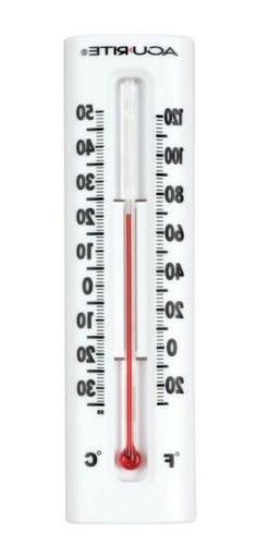 AcuRite Indoor Outdoor Wall Thermometer White
