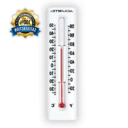 AcuRite Indoor/Outdoor White Thermometer New Free and Fast S