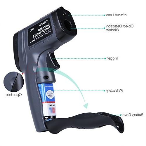 Infrared Laser Thermometer Adjustable - Temperature Probe Meat
