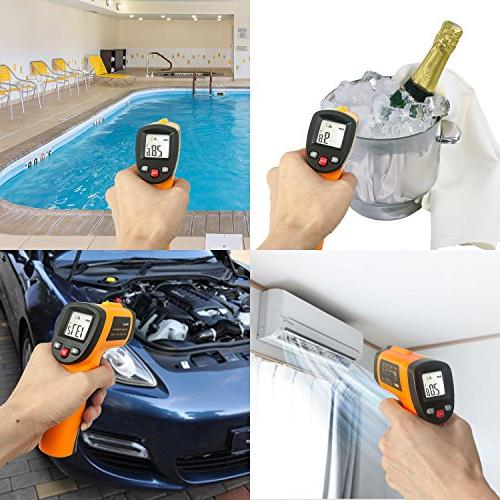 Infrared Thermometer, Digital Laser Temperature 1022°F Display