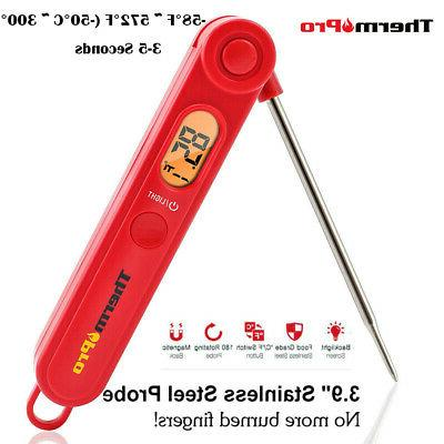 Red ThermoPro TP03A Digital Instant Read Meat Thermometer