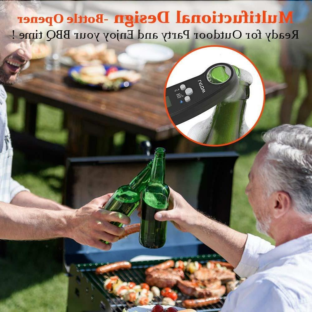 Instant Read Thermometer Waterproof BBQ with Bottle Opener