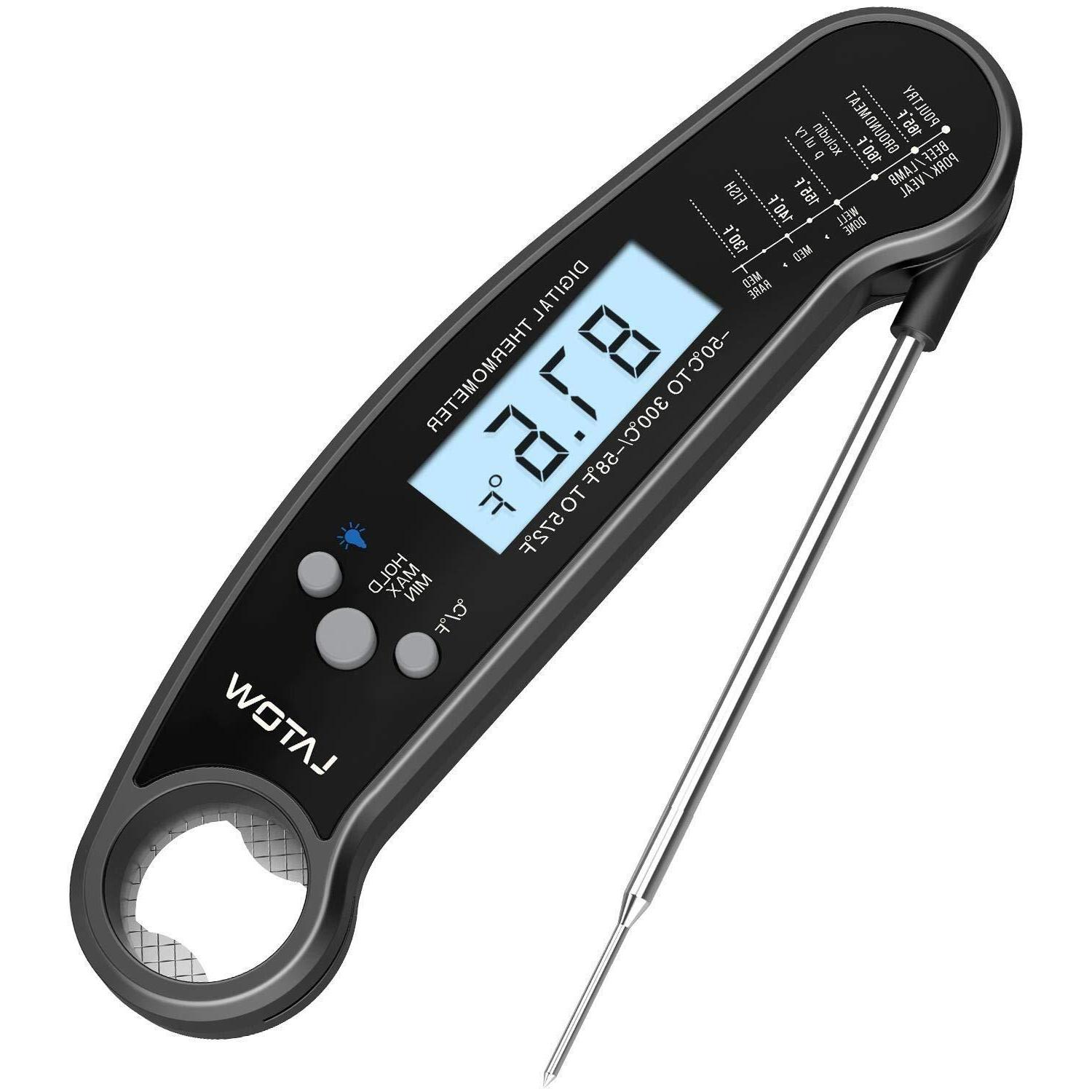 instant read digital meat thermometer waterproof bbq