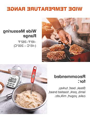 Habor Magnetic Thermometer Digital Thermometer Approval Instant for Food BBQ Grill Temperature
