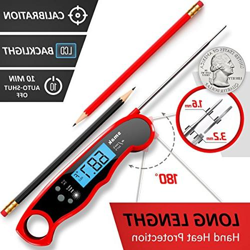 Digital Thermometer Food Cooking Thermometer with Backlight Super Meat Thermometer Probe Grilling Smoker Turkey