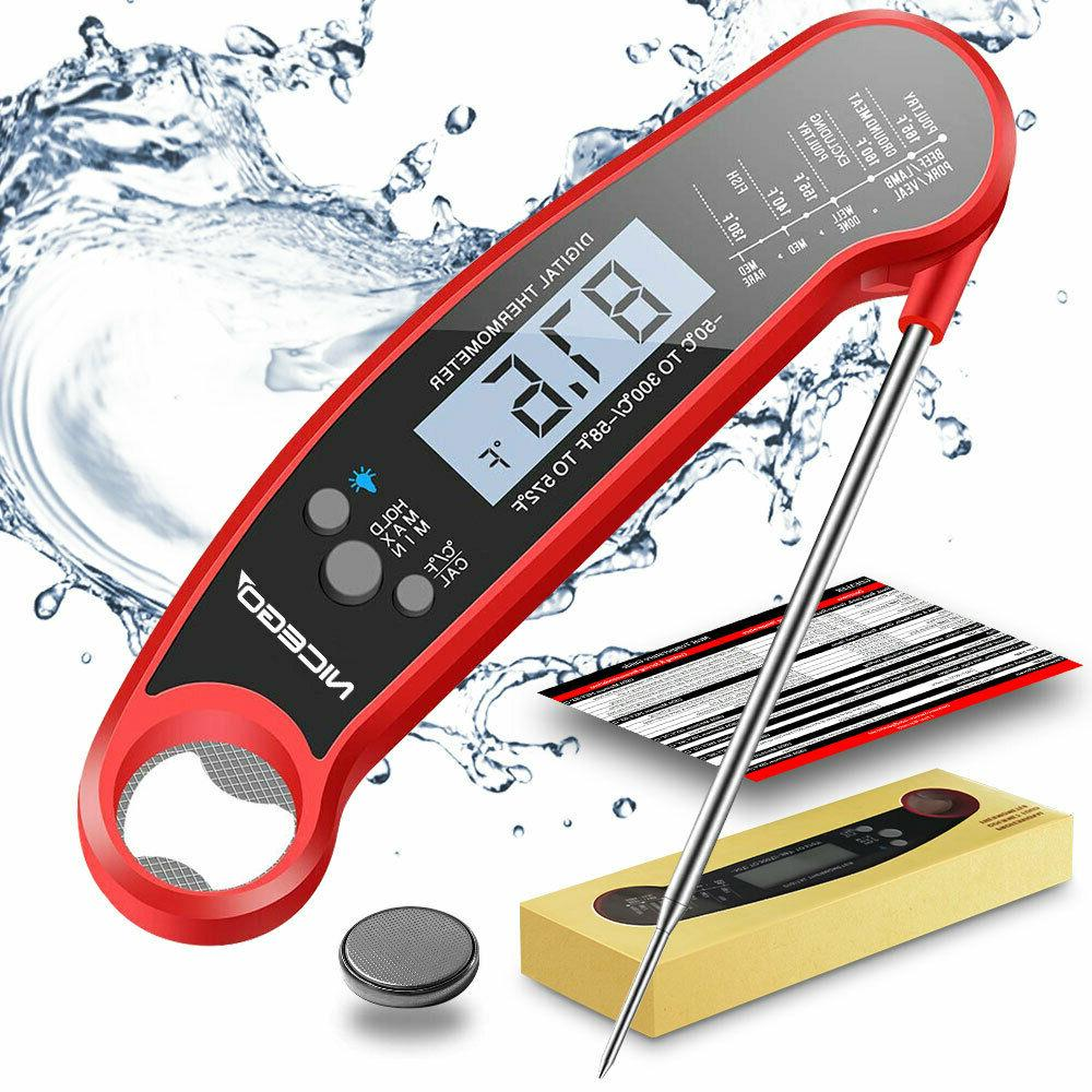 Instant Read Meat Thermometer Digital LCD Cooking BBQ Food T