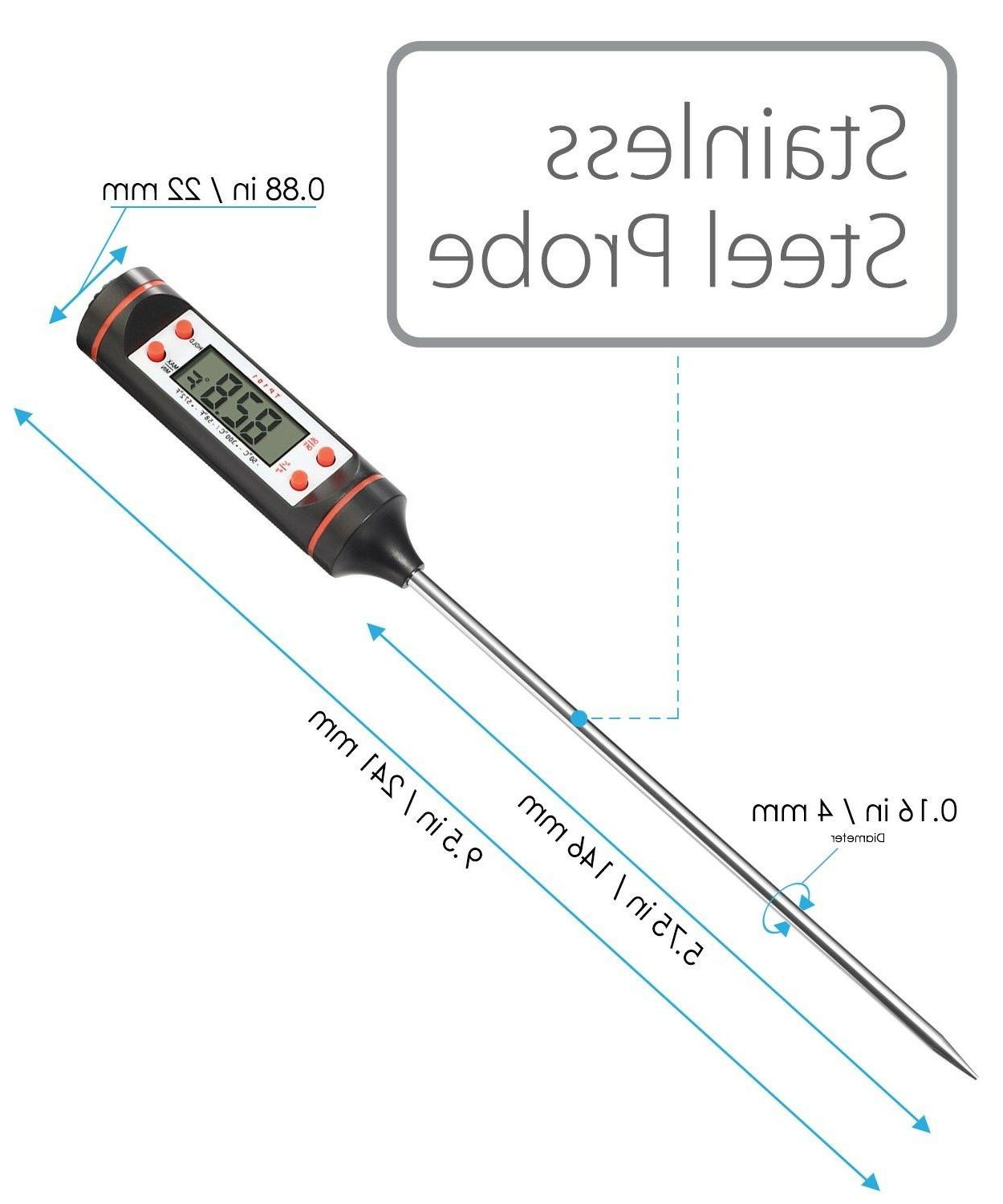 Instant Read Digital Kitchen BBQ Grill Food Meat Thermometer