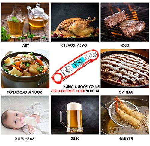 Kizen Instant Thermometer Ultra Thermometer Backlight & Digital Food Kitchen,