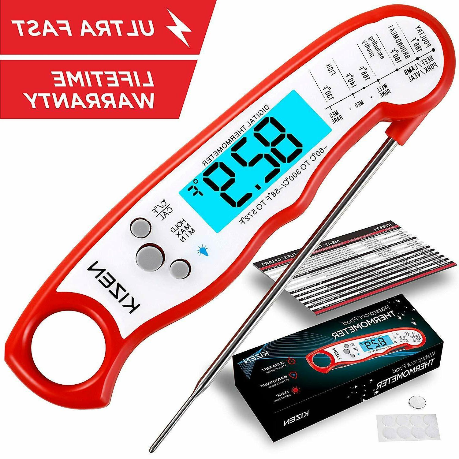 instant read waterproof thermometer
