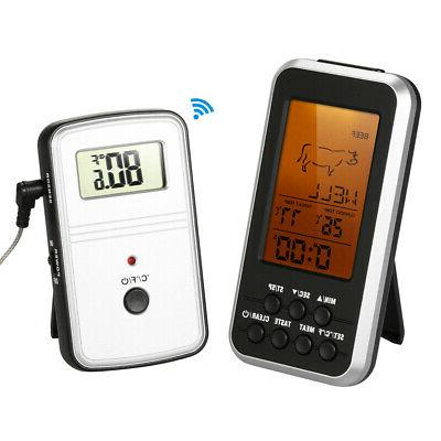 lcd digital food meat cooking thermometer wireless